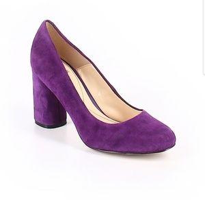 NWOT Isola Suede Purple Chunky heel shoes